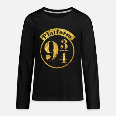 Hogwarts Harry Potter Platform 9 3/4 Gold - Teenager Premium Langarmshirt