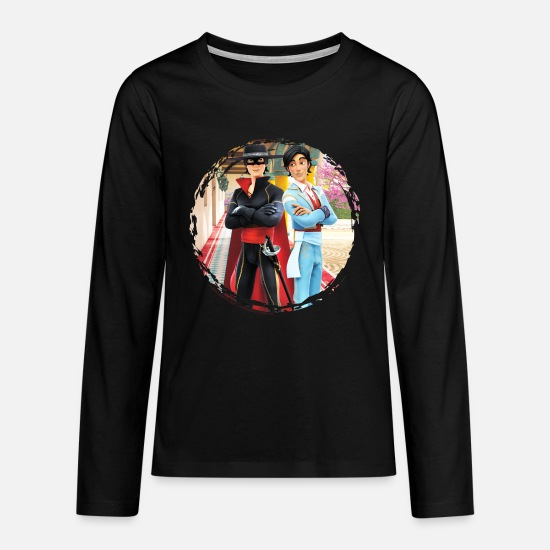 Zorroclassic Long Sleeve Shirts - Zorro The Chronicles Don Diego Double Life - Teenage Premium Longsleeve Shirt black