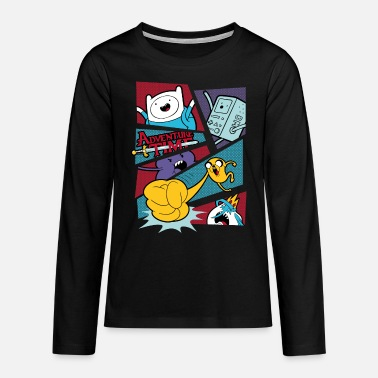 Adventure Time Mit Finn Und Jake Comic Felder - Teenager Premium Langarmshirt