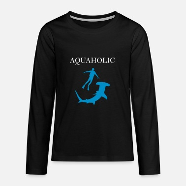 Watersport Duikeroverhemd • Watersport • Aquaholic-cadeau - Teenager premium longsleeve