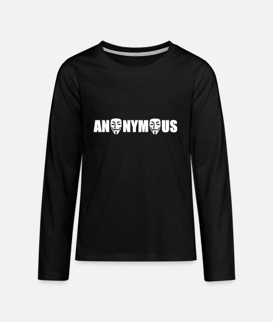 PC Langarmshirts - anonymous - Teenager Premium Langarmshirt Schwarz