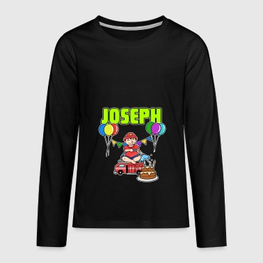 Fire Department Joseph Gift - Teenagers' Premium Longsleeve Shirt