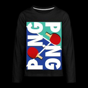 Ping Pong Racket Sports design - T-shirt manches longues Premium Ado
