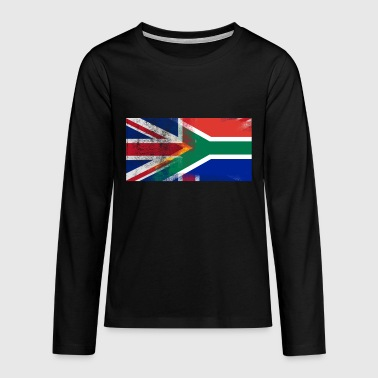 British South African Half South Africa Half UK Fl - Teenagers' Premium Longsleeve Shirt