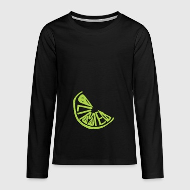 lime citron - Teenager premium T-shirt med lange ærmer