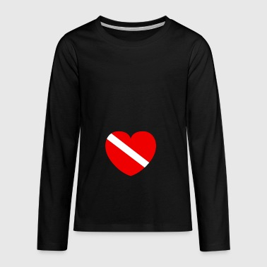 Diver with heart - Teenagers' Premium Longsleeve Shirt