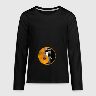 Ying Yang sign gift guitarist guitar music - Teenagers' Premium Longsleeve Shirt