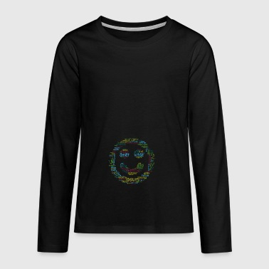 smile for life typo - Teenagers' Premium Longsleeve Shirt