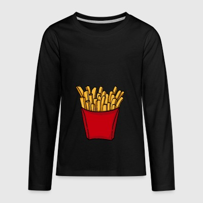 French fries fast food french fries love food - Teenagers' Premium Longsleeve Shirt