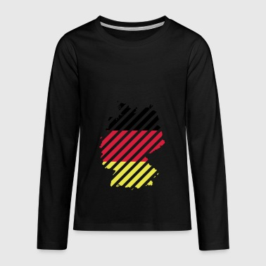 Striped Germany country - Teenagers' Premium Longsleeve Shirt