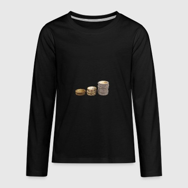 Euro pieces - Teenagers' Premium Longsleeve Shirt