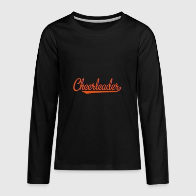 2541614 15319618 cheerleader - Teenager premium T-shirt med lange ærmer