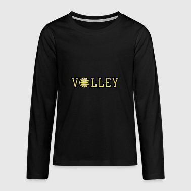 2541614 15552612 volley - Teenager Premium Langarmshirt