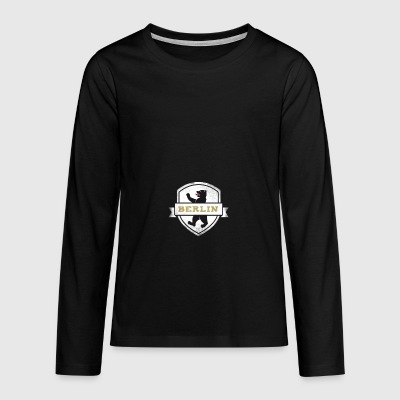 berlin coat of arms bear - Teenagers' Premium Longsleeve Shirt