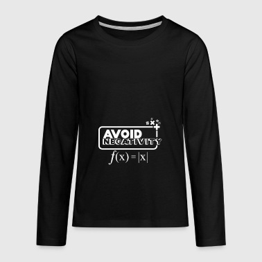 Avoid Negativity - white - Teenagers' Premium Longsleeve Shirt
