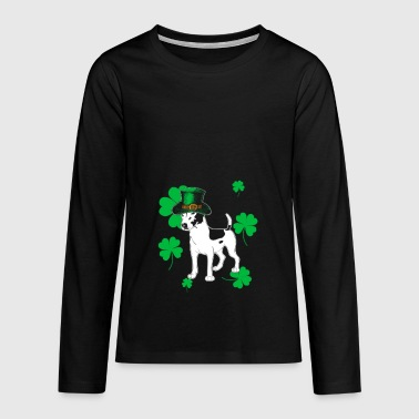 Jack Russell St Patricks Day Gift - Teenagers' Premium Longsleeve Shirt