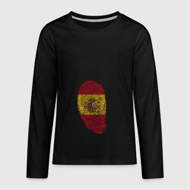 Spain fingerprint gift spanish spanish - Teenagers' Premium Longsleeve Shirt