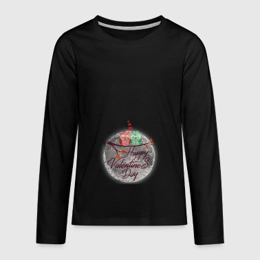 Happy Valentines Day Gift Valentines Day Love - Teenagers' Premium Longsleeve Shirt