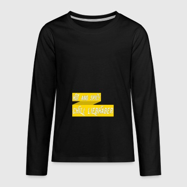 Hot and Spicy Chili lovers - Teenagers' Premium Longsleeve Shirt