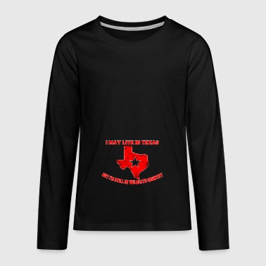 I can live in Texas wildcats - Teenagers' Premium Longsleeve Shirt