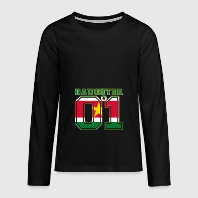 Daughter 01 daughter queen Suriname - Teenagers' Premium Longsleeve Shirt