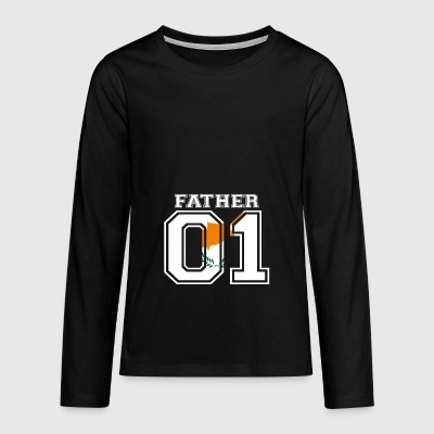 Father father papa 01 queen Cyprus - Teenagers' Premium Longsleeve Shirt