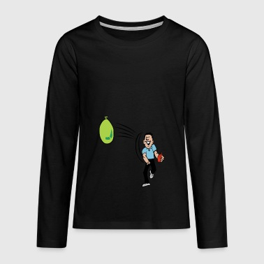 water balloon throw activities water people - Teenagers' Premium Longsleeve Shirt