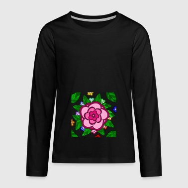 Flower Power - Camiseta de manga larga premium adolescente