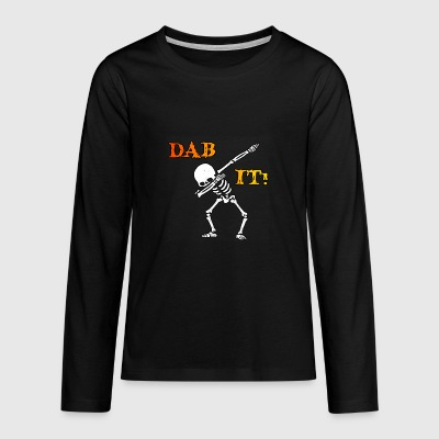 DAB IT - Skelett - Halloween - Helloween - Teenager Premium Langarmshirt