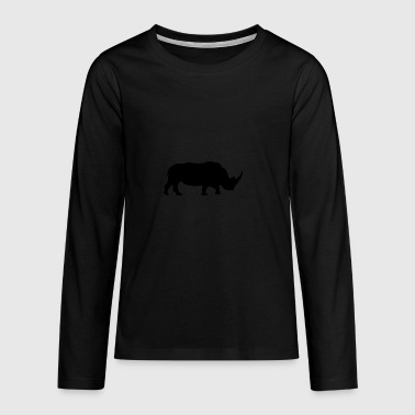 Rhinoceros - Teenagers' Premium Longsleeve Shirt