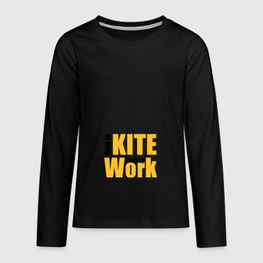 2541614 13949902 kite - Teenager premium T-shirt med lange ærmer