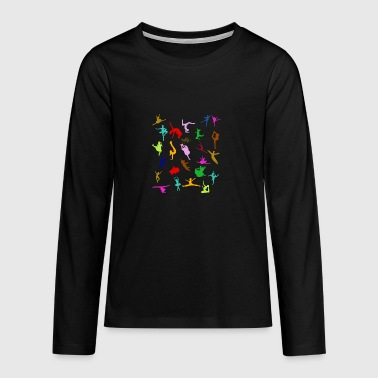 COLORFUL SILHOUETTES - Teenagers' Premium Longsleeve Shirt