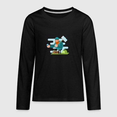 Forest Friend - Teenagers' Premium Longsleeve Shirt