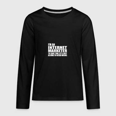 internet marketer - Teenagers' Premium Longsleeve Shirt