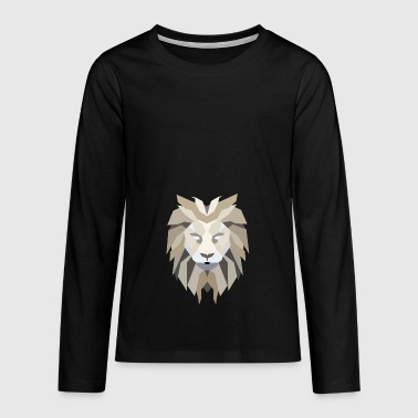 lion's head - Teenagers' Premium Longsleeve Shirt