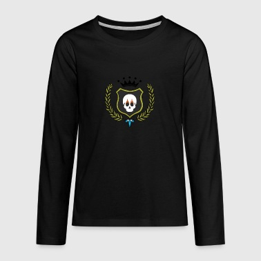 Skull Shield - Teenagers' Premium Longsleeve Shirt