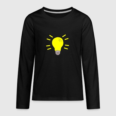 Light bulb switched on - Teenagers' Premium Longsleeve Shirt