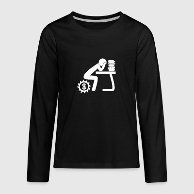 Work wite - Teenagers' Premium Longsleeve Shirt