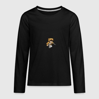 CookieMarcool's Cartoon Gamer - Teenagers' Premium Longsleeve Shirt