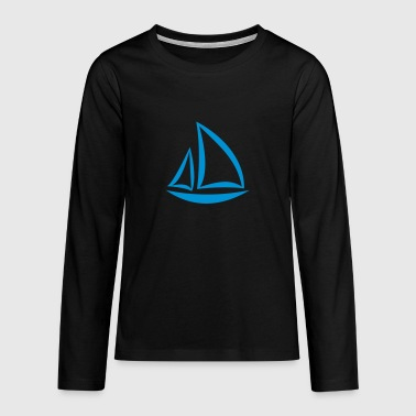 sailboat - Teenagers' Premium Longsleeve Shirt