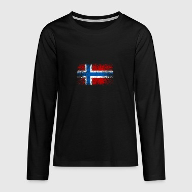Norwegen 002 AllroundDesigns - Teenager Premium Langarmshirt