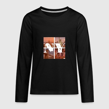 NEW YORK RED - Teenager Premium Langarmshirt