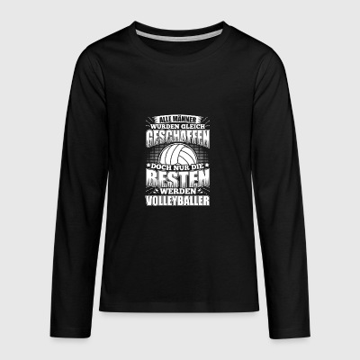 Lustiges Volleyball Shirt Alle Männer - Teenager Premium Langarmshirt