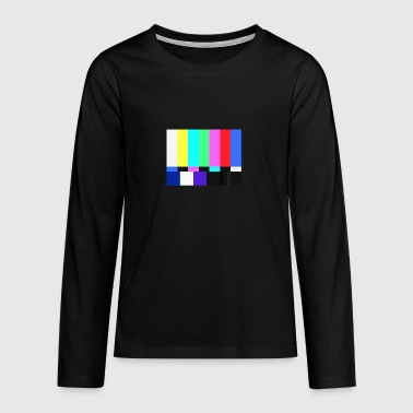 Test Card.Test Pattern. Retro Television Crew.SALE - Teenager premium T-shirt med lange ærmer