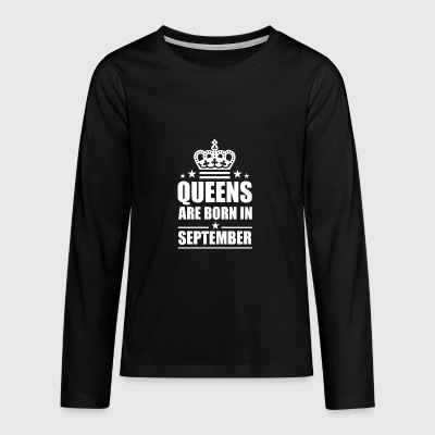 September Queen - Teenagers' Premium Longsleeve Shirt
