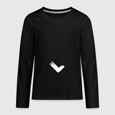 QuadratSocke YouTube Merch - Teenager Premium Langarmshirt