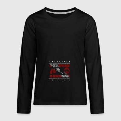 Diver ugly sweater xmas gift christmas - Teenagers' Premium Longsleeve Shirt