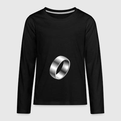 Silver ring - Teenagers' Premium Longsleeve Shirt