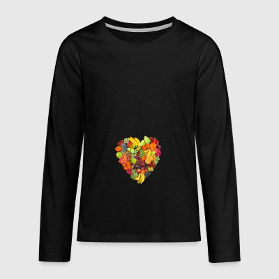 BlackBerry fruit veggie veggie fruits11 - Teenager Premium shirt met lange mouwen