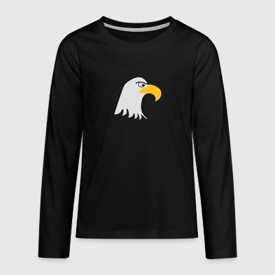 Eagle - Teenager premium T-shirt med lange ærmer